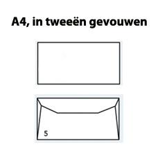 Enveloppen EA5 wit gegomd (156 x 220mm) 80 gram - 1000 enveloppen