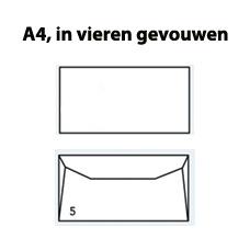 Enveloppen C6 wit gegomd (114 x 162mm) 80 gram - 1000 enveloppen