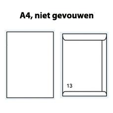 Enveloppen C4 wit gegomd (229 x 324mm) 120 gram  - 1000 enveloppen