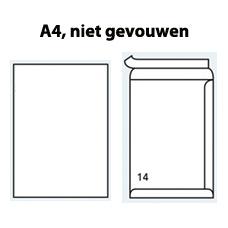 Enveloppen EA4 wit met hechtstrip (220 x 312mm) 120 gram - 250 enveloppen