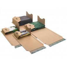 Progress boekverpakking bruin (328 x 255 x 80mm) - doos à 20 verpakkingen